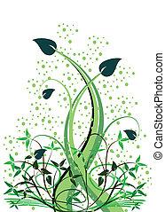 floral, abstratos, vetorial, ilustration
