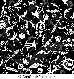 floral, abstratos, vetorial, padrão