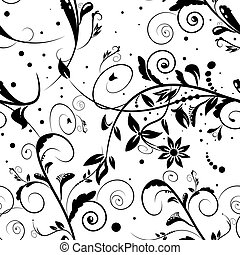 floral, achtergrond, pattern., seamless, vector