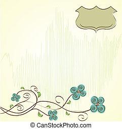 floral, achtergrond, romantische