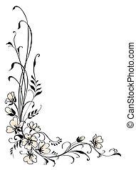 floral, achtergrond, roze bloem