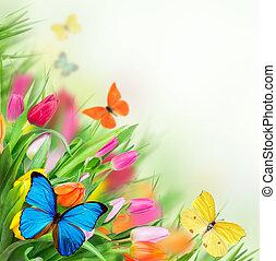 floral, achtergrond