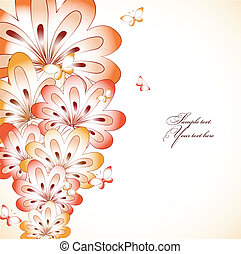 floral, achtergrond., vector