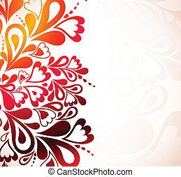 floral, achtergrond., vector, kleurrijke, illustratie