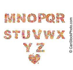 Floral alphabet. Part 2