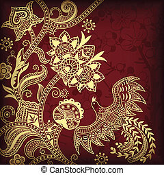 Floral and Bird - Illustration of floral and bird in asia...