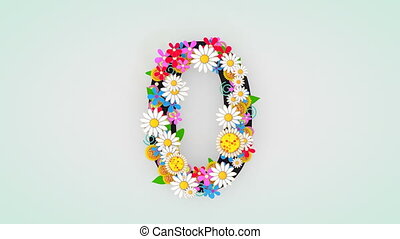 """floral, animation, 0."""", """"numerical, chiffre"""