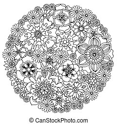 Floral anti stress?Coloring