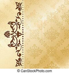 Floral arabesque background - Elegant satiny floral...