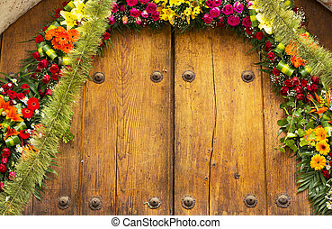 Floral Archway With Copy Space