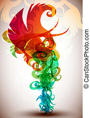 floral, arco íris