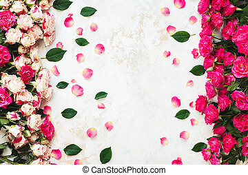 Floral arrangement with roses