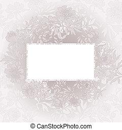 floral, arrière-plan beige