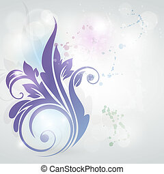 floral, arrière-plan., carte, invitation