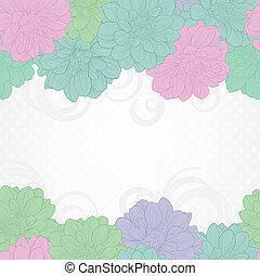floral, arrière-plan., carte, mariage