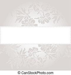 floral, arrière-plan gris