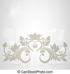 floral, arrière-plan., résumé, carte, invitation