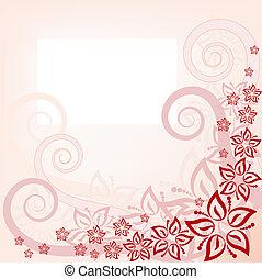 floral, arrière-plan rose
