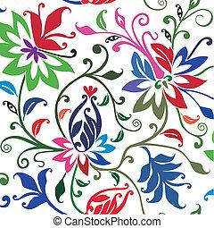 floral, arrière-plan., vecteur