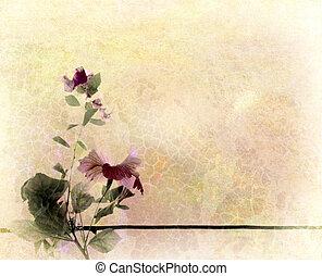 Floral Art Textured Background