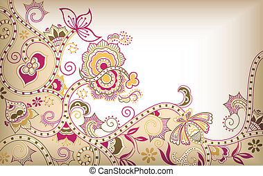 floral, asie
