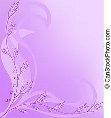 floral, assimétrico, fundo