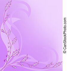 floral, asymmetrisch, achtergrond