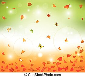 Floral autumn background  design