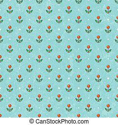 floral, bébé, wallpaper., vecteur, eps10.