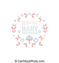 Floral Baby Shower Invitation Design Template