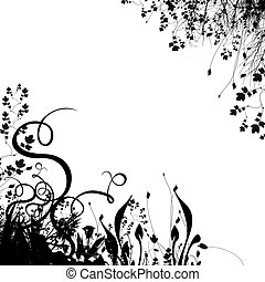 Floral background silhouette
