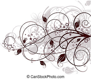 Floral background. - Abstract illustration. Suits well for...