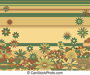 Floral background - Background editable vector illustration...