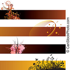 Floral background banners