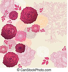 Floral background - Beautiful floral background