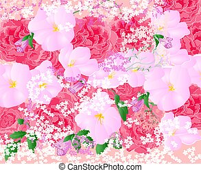 Floral background bouquet of roses