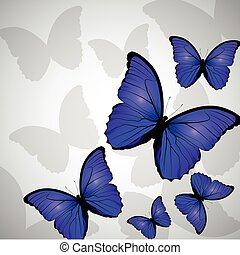 Floral background butterfly