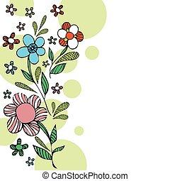 Floral background card