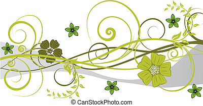 floral background - Beautiful floral vector background for...