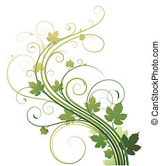 Floral Background - Vector illustration of style Floral...
