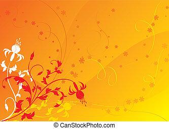 Floral background, elements for design, vector
