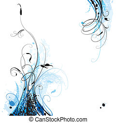 Floral Background, editable vector illustration