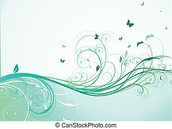 floral Background - Vector illustration of abstract...