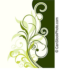 floral background - Floral background for design use. Vector...