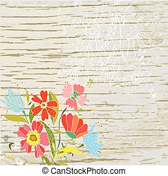 Floral background for the eco card