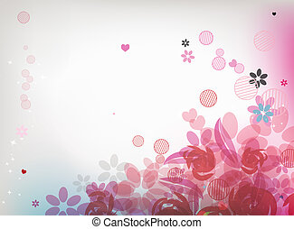 Floral background for your design