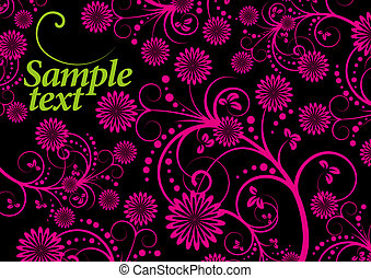 floral background green