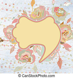 Floral background, greeting card. EPS 8