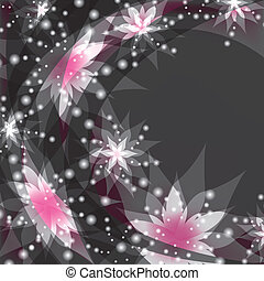Floral background, greeting or invitation card with flower