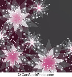 Floral background, greeting or invitation card with flowers